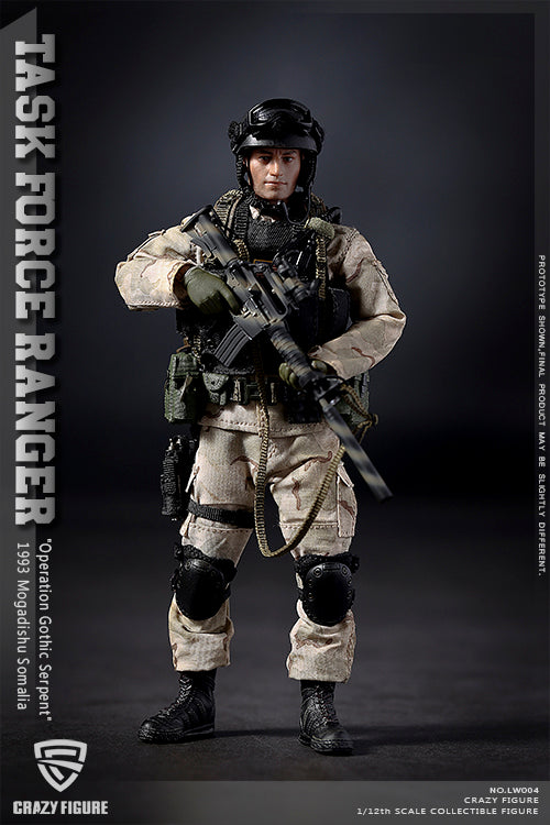 1/12 - Delta Force - Rifleman - Black Chest Rig w/Mag Set (x4)