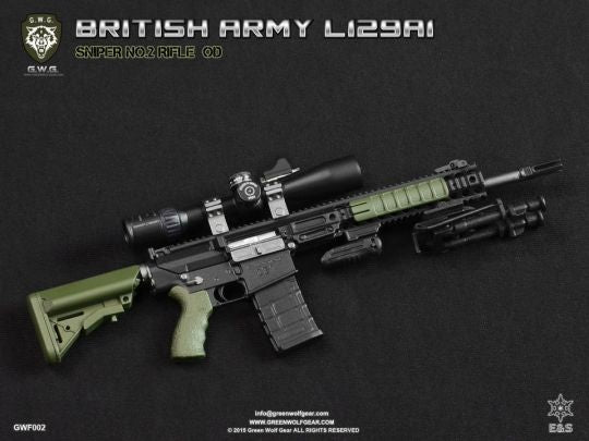 British L129A1 Sniper Rifle Set OD Green - MINT IN BOX