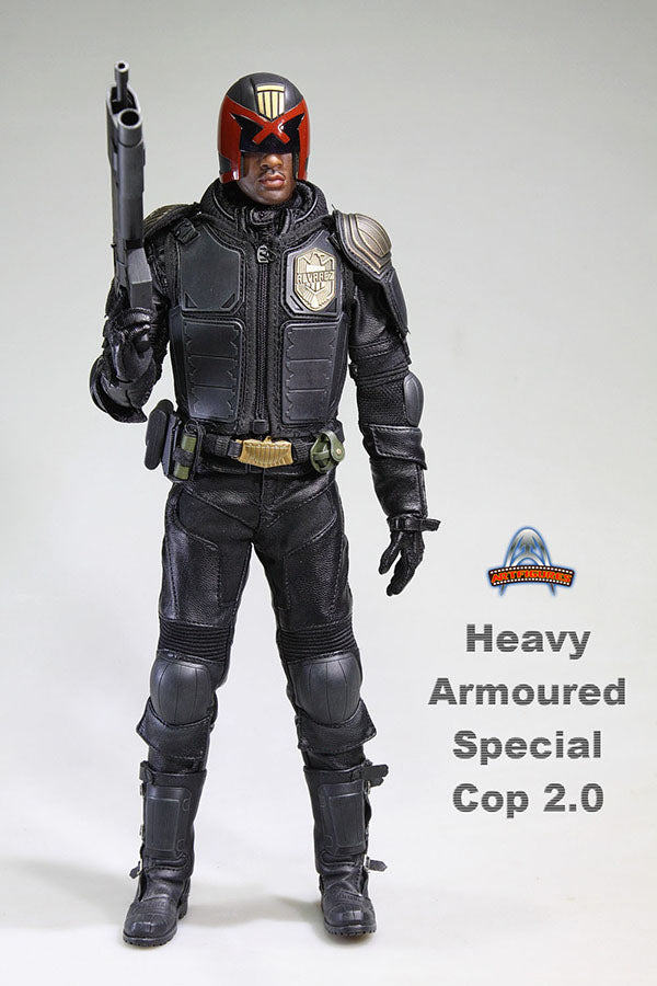 Heavy Armored Special Cop - Black Leather Like Belt w/Buckle