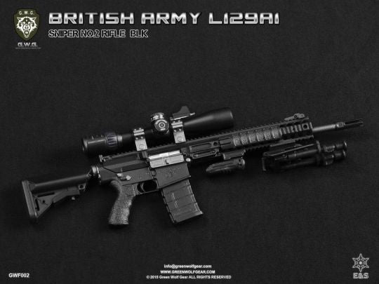 British L129A1 Sniper Rifle Set Black - MINT IN BOX