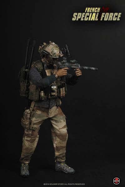 French Special Force - Black Radio & Pouch Set
