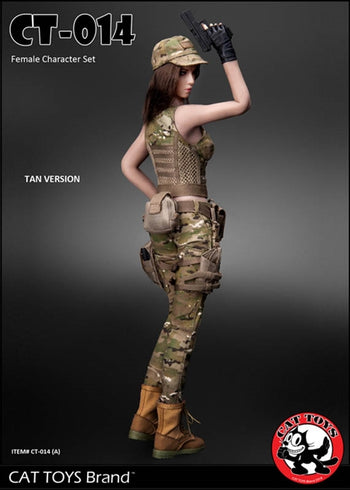 Female Military Accessory Set - Tan Version - MINT IN BOX