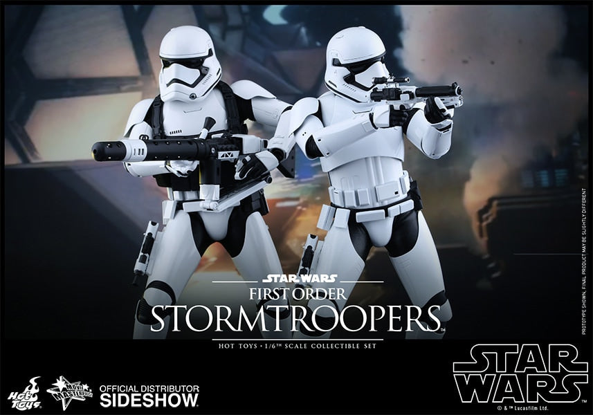 STAR WARS - Stormtrooper - Gloved Hand Set (x7) w/Forearm Guards