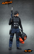 Quarantine Zone Agent - Black & Blue Scar-L w/Accessory Set