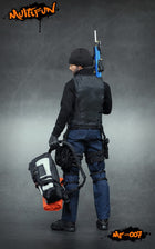 Quarantine Zone Agent - Black Knee Pads