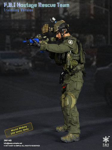 FBI Hostage Rescue - Training - Blue Training AR-15 Rifle Set