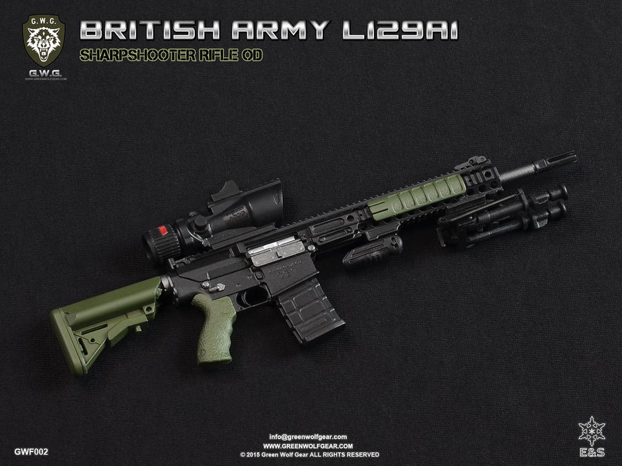 British L129A1 Sharpshooter Rifle Set OD Green - MINT IN BOX