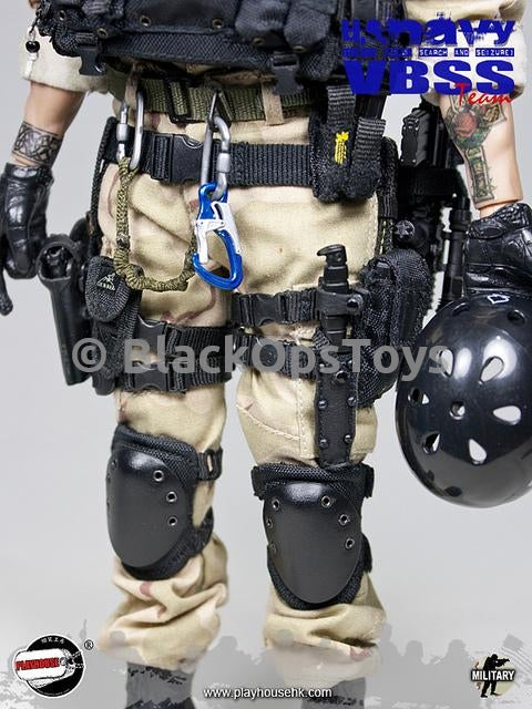 US Navy VBSS Hook & Loop Knee Pads
