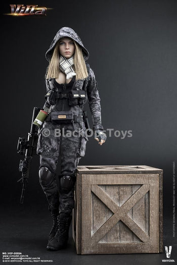 Police Black Python Stripe Female PMC Villa MINT IN BOX