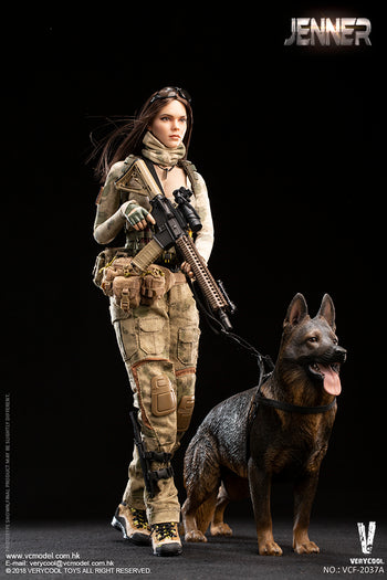 A-TACS FG Women Soldier - JENNER(A & B Style) & Dog Combo - MINT IN BOX