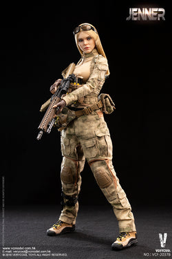 PREORDER A-TACS FG Women Soldier - JENNER (B Style) MINT IN BOX