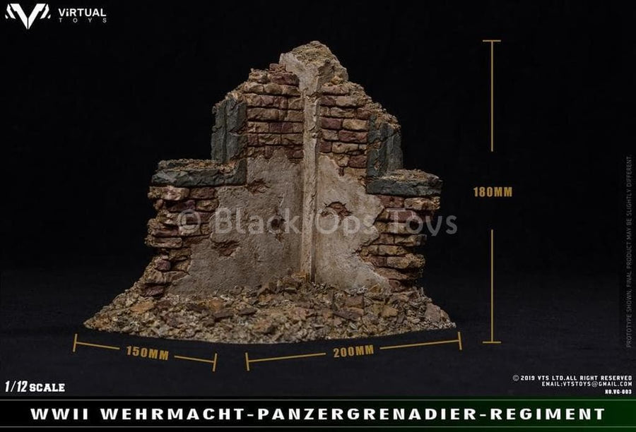 PREORDER - 1/12 scale - War Ruins Diorama Scene - MINT IN BOX