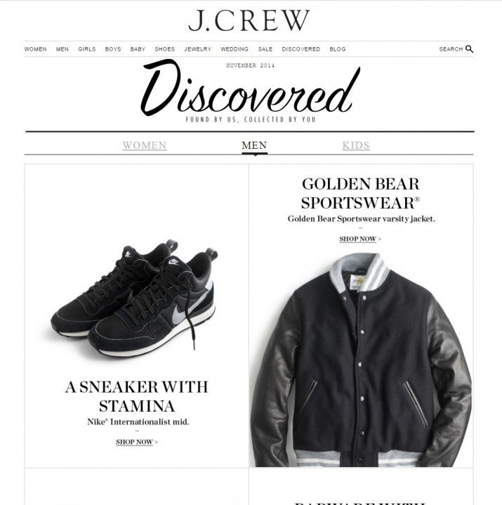 GOLDEN BEAR SPORTSWEAR FOR J. CREW MEN'S