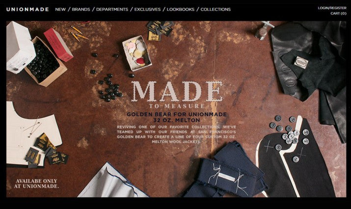 MADE TO MEASURE: GOLDEN BEAR FOR UNIONMADE