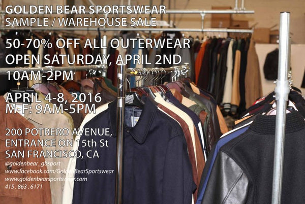 GOLDEN BEAR SAMPLE/WAREHOUSE SALE