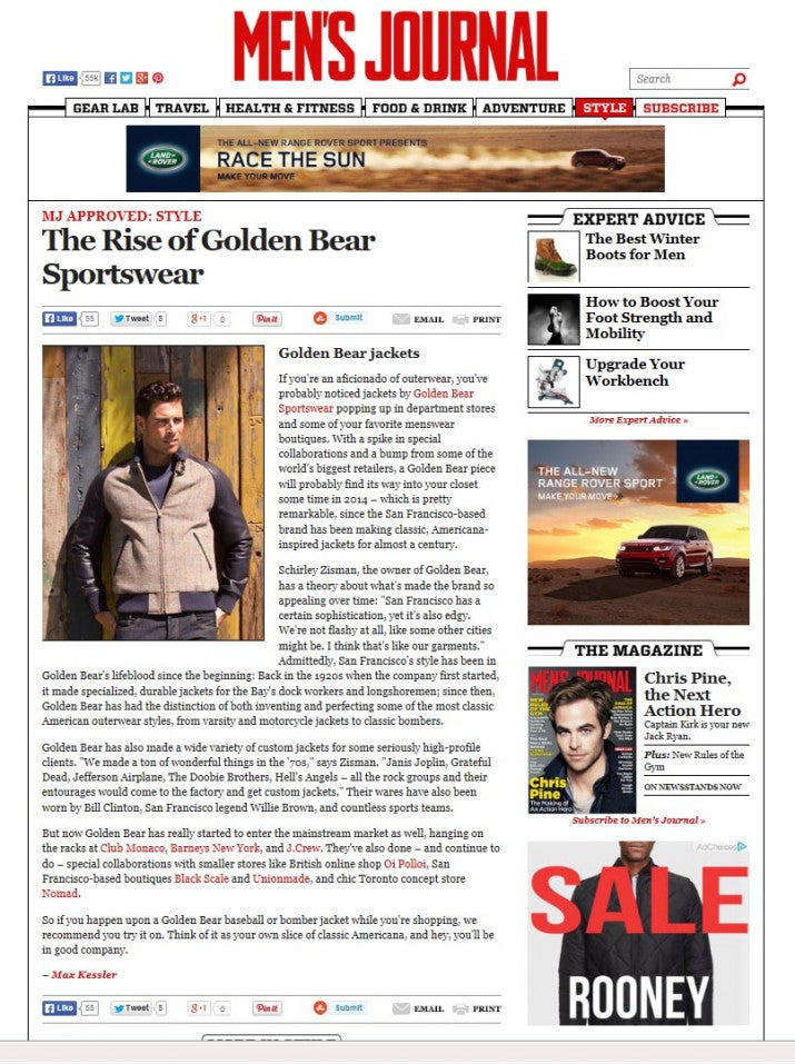 MEN'S JOURNAL- THE RISE OF GOLDEN BEAR