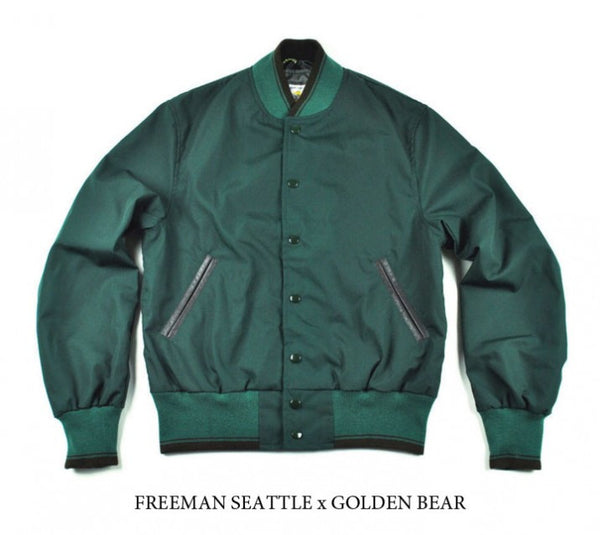 SPRING STYLE: COTTON VARSITY JACKET BY GOLDEN BEAR FOR FREEMAN SEATTLE