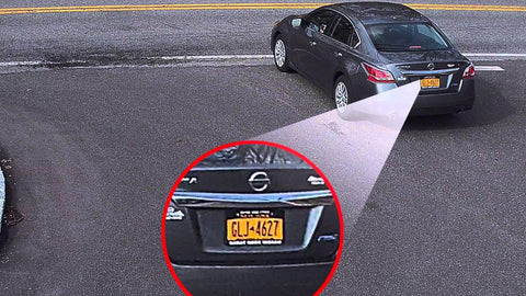Can security cameras see license plates?