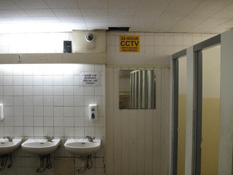security cameras in restrooms