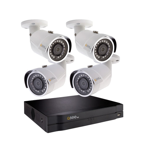 4 Channel IP HD 1080p NVR with 4 1080p Bullet Cameras and 1TB Hard Drive (QC894-4ES-1) IP HD KIT  - Q-See