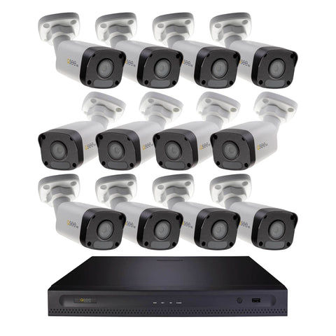 4K Ultra HD 16 Channel IP Security System with 2TB Hard Drive and 16 4K IP Outdoor Bullet Cameras with Color Night Vision (H162K1.16)