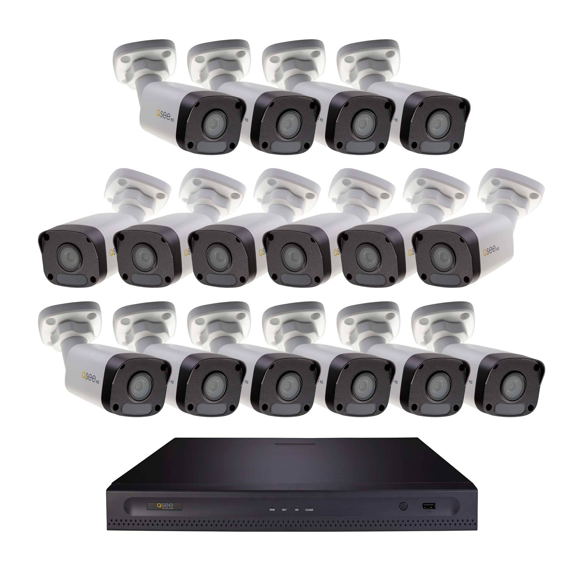5MP HD 16 Channel IP Security System with 2TB Hard Drive and 16 5MP IP Outdoor Bullet Cameras with Color Night Vision (H162K2.16) IP HD KIT  - Q-See