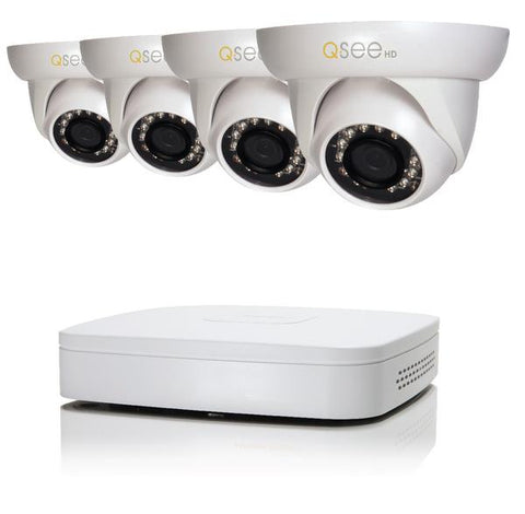 4 Channel Analog HD Security System with 4 720p Security Cameras 1TB HDD (QC934-4GY-1) ANALOG HD KIT  - Q-See