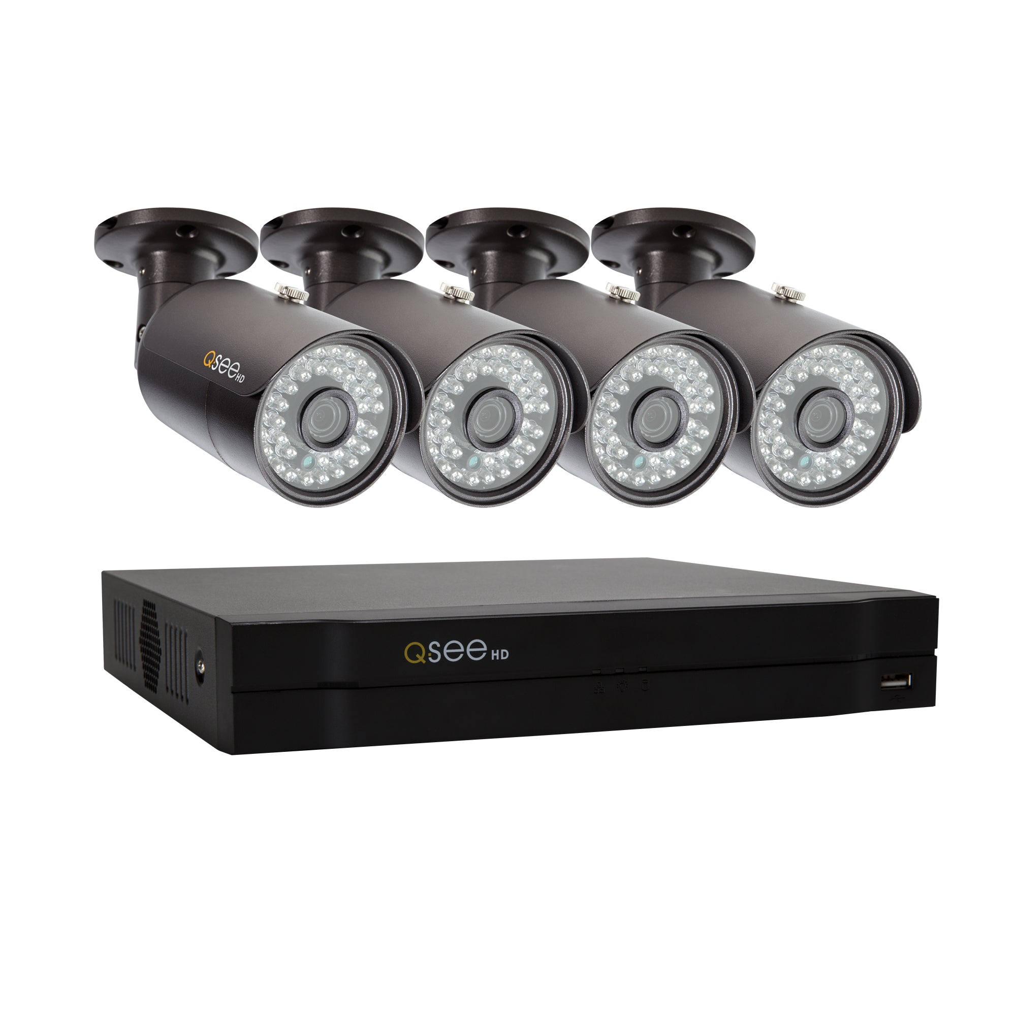 4 CHANNEL ANALOG HD 4MP DVR WITH (4) 4MP BULLET CAMERAS AND 1TB HDD (QC974-4DY-1) Analog HD DVRs  - Q-See