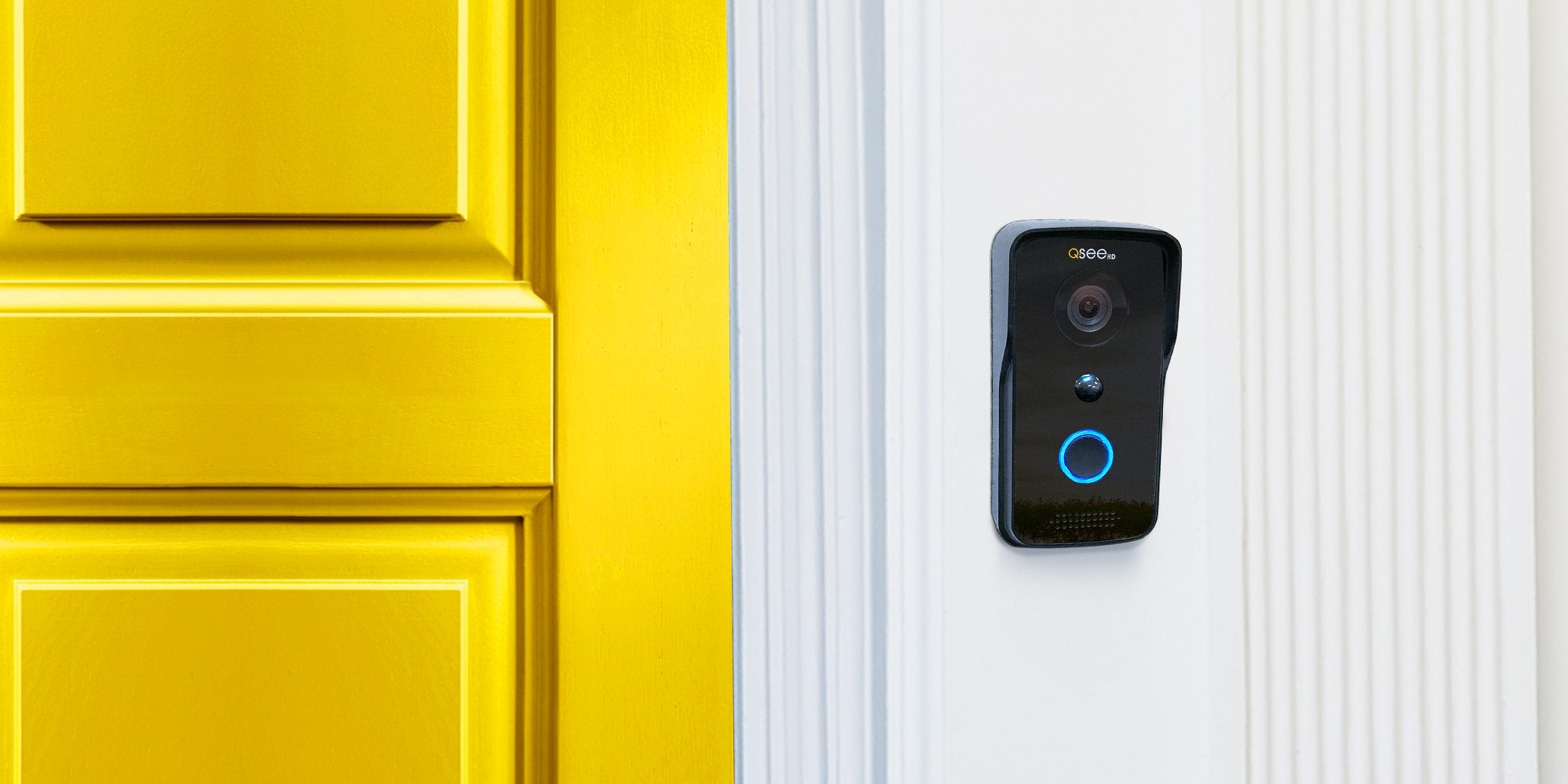 720P Wi-Fi Doorbell Camera - Black (QCW1000B) Compatible with iOS and Android! Wi-Fi  - Q-See