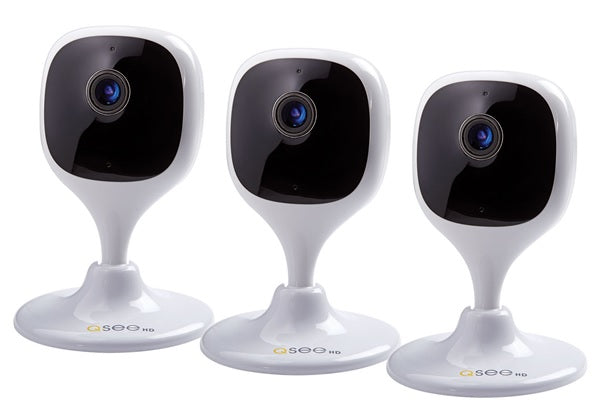 3 Pack Mini Cameras with Night Vision 1080p Smart Home Wi-Fi  - (QCW2MP-3)