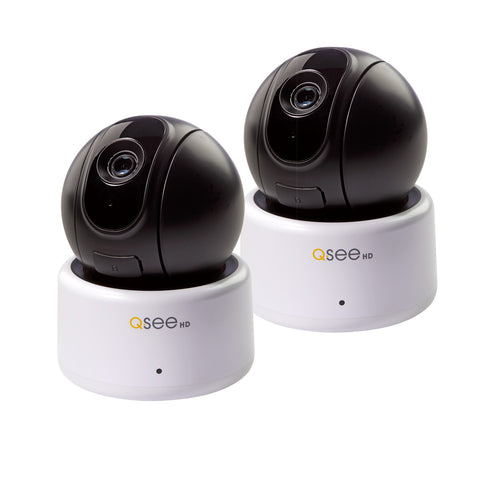 1080p Smart Home Wi-Fi Pan Tilt Camera - 2 Pack Wi-Fi  - Q-See