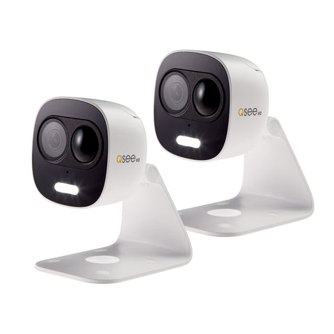 4 Pack 720p Analog HD Dome Security Cameras (QCA7202D-4)
