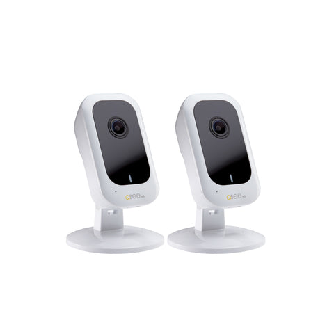 4K Ultra HD Smart Home Wi-Fi White Cube Camera - 2 Pack (QCW4K1MCW-2)