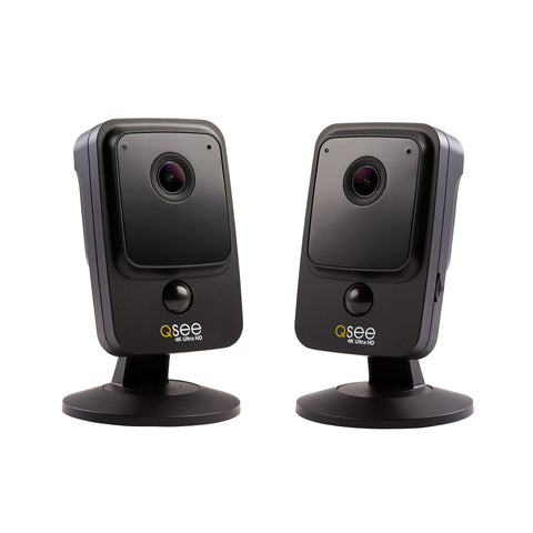 2 Pack 3MP Smart Home Wi-Fi Cube Cameras with 16GB micro SD Card (QCW3MP16-2)