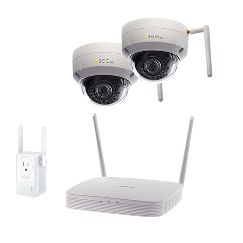8-Channel Wi-Fi Security System with 1TB HDD, 2 Wi-Fi 1080p Dome Security Cameras and 1 Wi-Fi Extender (QSW8-2EQ-1E)