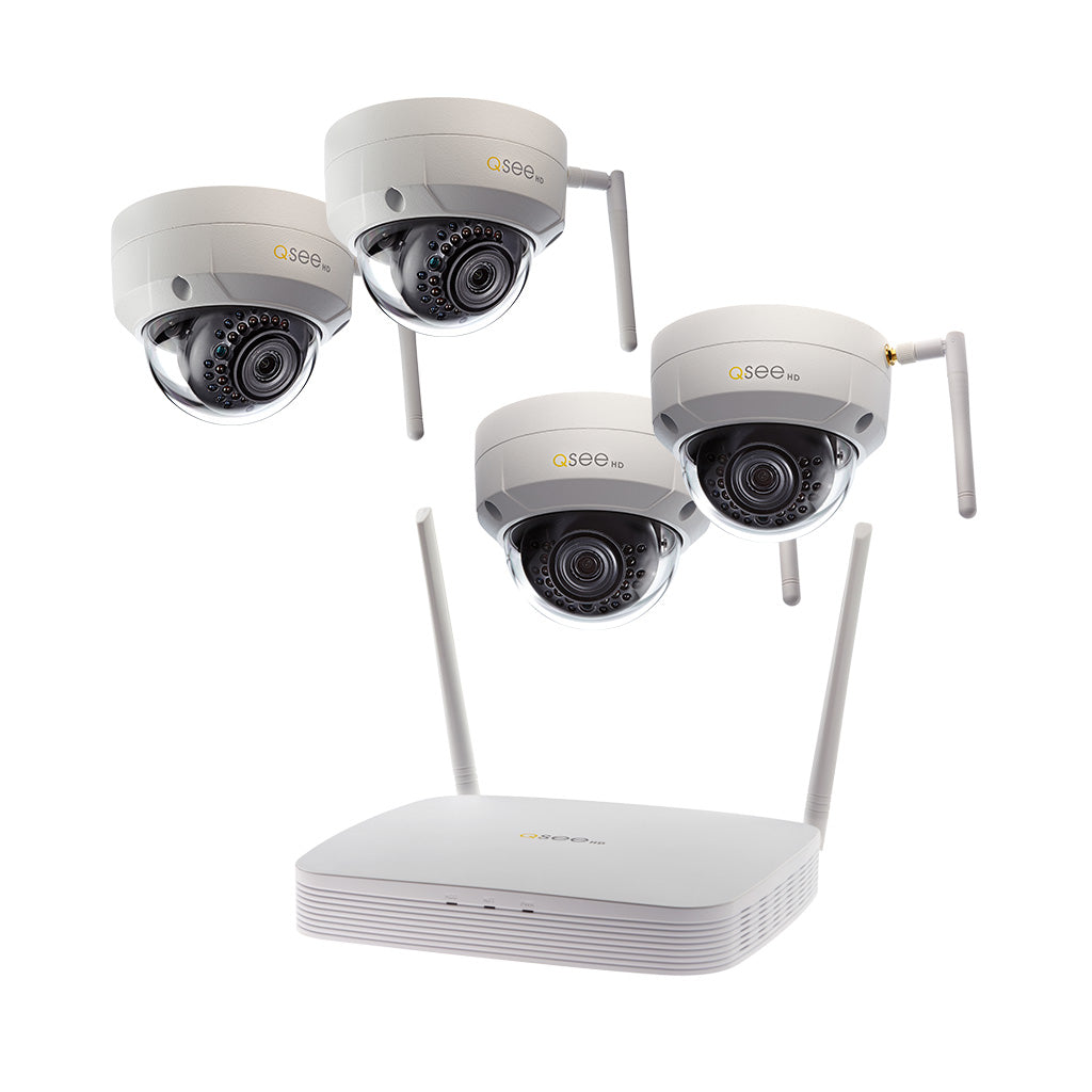 8-Channel Wi-Fi Security System with 1TB HDD and 4 Wi-Fi 1080p Dome Security Cameras (QSW8-4EQ-1)