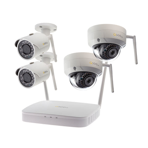 8-Channel Wi-Fi Security System with 1TB HDD and 4 Wi-Fi 1080p Security Cameras (QSW8-4EN-1)