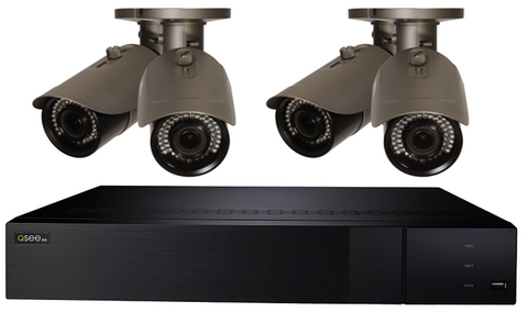 8 Channel IP 4K Ultra HD Capable NVR with 2TB Hard Drive and (4) 4MP Varifocal Bullet Cameras, Color Night Vision (QT878-4JJ-2)