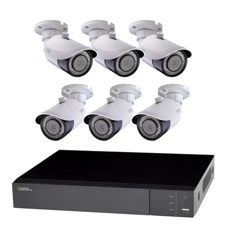 4 CHANNEL ANALOG HD 1080p DVR WITH (4) 1080p BULLET CAMERAS AND 1TB HDD (QR474-4HP-1)