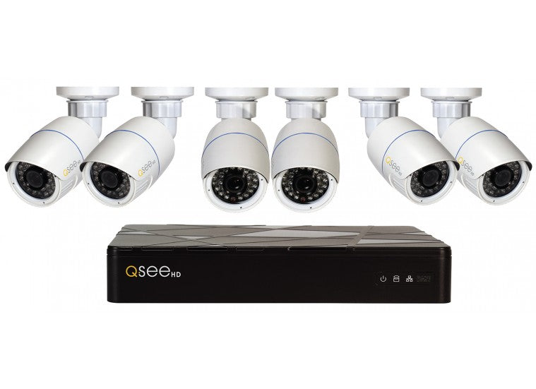Refurbished 8 Channel IP HD Security System with (6) 1080P Bullet Cameras and 2TB HDD (QT868-6P7-2R)