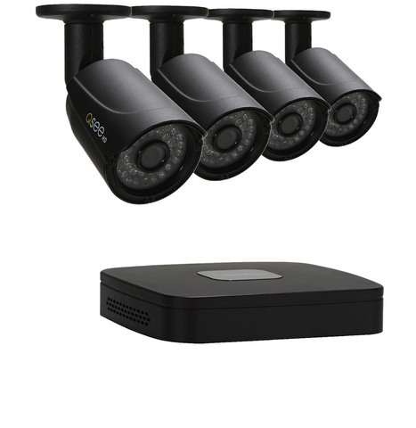 n/a ANALOG HD 4 Channel HD Security System with 4 HD 720p Security Cameras (QC904-4X1-1)