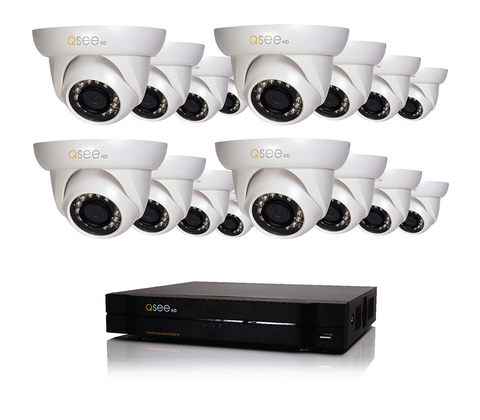 n/a Q-See 16 Channel HD Security System with 16 720p Cameras QC9416-16BX-2