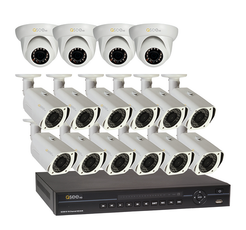 n/a Q-See 16 Channel HD Security System with 16 HD 720p Cameras QC9016-16M4-2 - Discontinued
