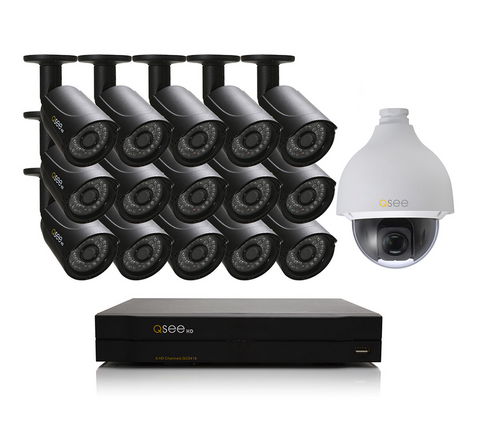 n/a Q-See 16 Channel HD Security System with 16 HD 720p Cameras QC9416-16Y4-3