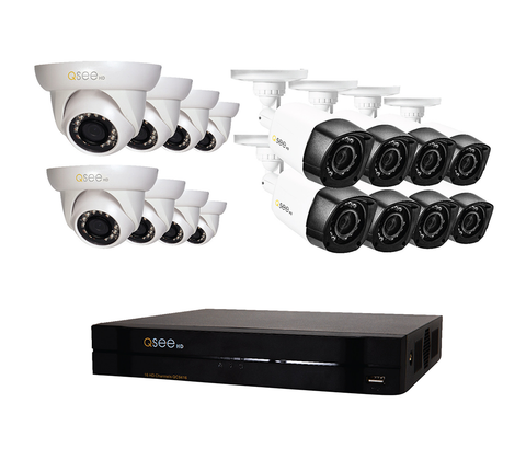 n/a Q-See 16-Channel HD Security System with 16 HD 720p Security Cameras QC9416-16BY-2
