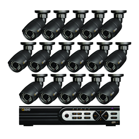 n/a Q-See 16 Channel HD Security System with 16 HD 720p Security Cameras (QT9316-16Y8-2)