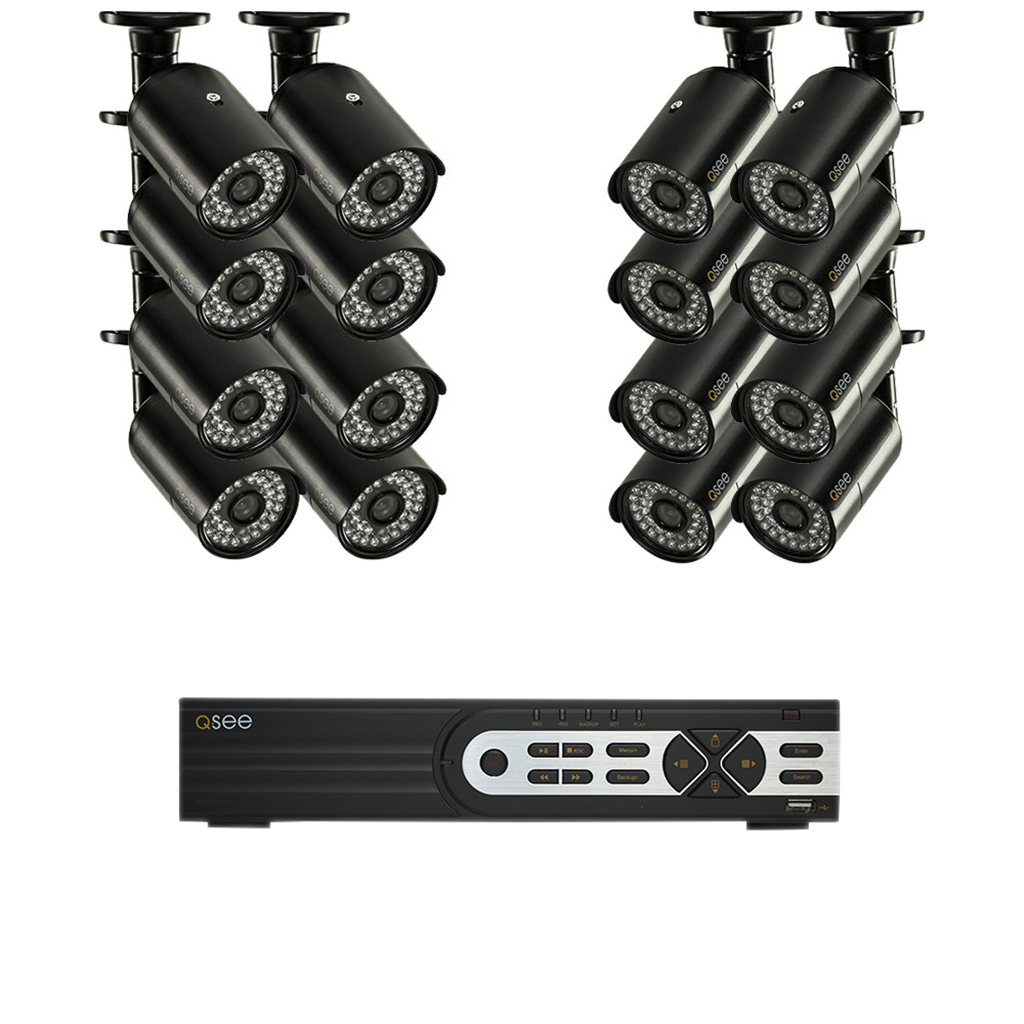 16 Channel Security System With 16 900 Tvl...