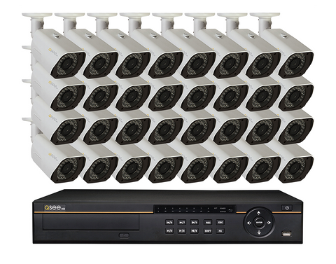 n/a Q-See 32 Channel HD Digital Security System with 32 4MP HD IP Bullet Cameras QC8832-32AU-8