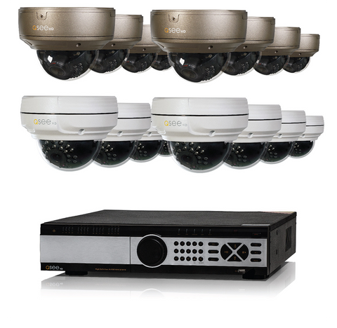 n/a Q-See 32 Channel IP System with 16 4MP Cameras QT8716-16CH-4
