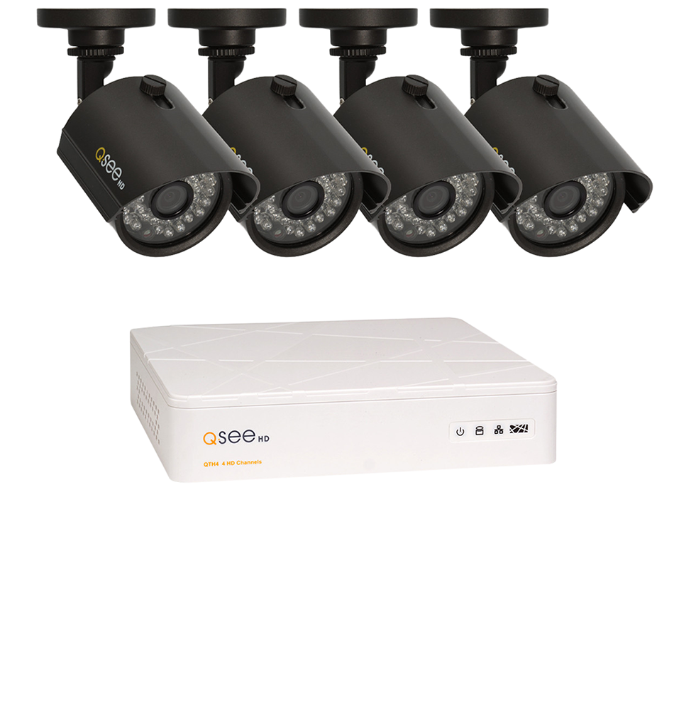 Cctv Dvr With 4 720p Bullet Cameras And 1tb Hdd Q See